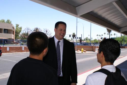 "State Sen. David Schapira (D-Tempe) was interviewed by 12News at Tempe High School on Friday about Obama's DREAM directive. He posted this photo on his Facebook, and said:  After the interview, I met a young man named Alejandro, who was on his way home from summer school. He overheard the interview and told me that he and his brothers are undocumented. I explained what the president did today, and he began to grin ear-to-ear. The look of newfound hope on his face made me incredibly proud of our president and our country today.  Other lawmakers in the state were not in favor of the president's new plan. Rep. David Schweikert (R) called it ""backdoor amnesty."" He said in a press release:  ""While President Obama asks the Department of Homeland Security to 'look the other way,' I ask him to respect the rule of law, and get back to focusing on putting 23 million unemployed Americans back to work."""