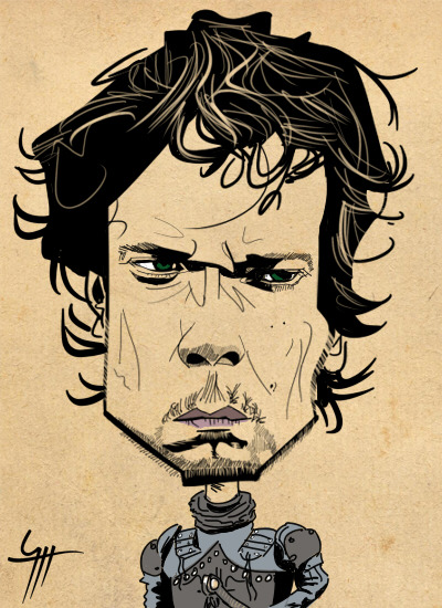 Caricature Alfie Allen as Theon Greyjoy Game of Thrones