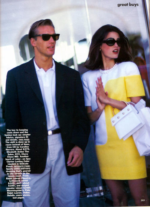 "Vogue US December 1990""Class Action""ph: Arthur Elgort"