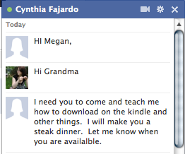 Grandma knows how to get me there ASAP.