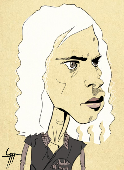 Caricature Viserys Targaryen Game of Thrones