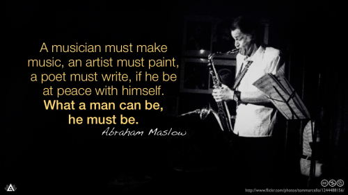 A musician must make music, an artist must paint, a poet must write, if he be at peace with himself. What a man can be, he must be.— Abraham Maslow