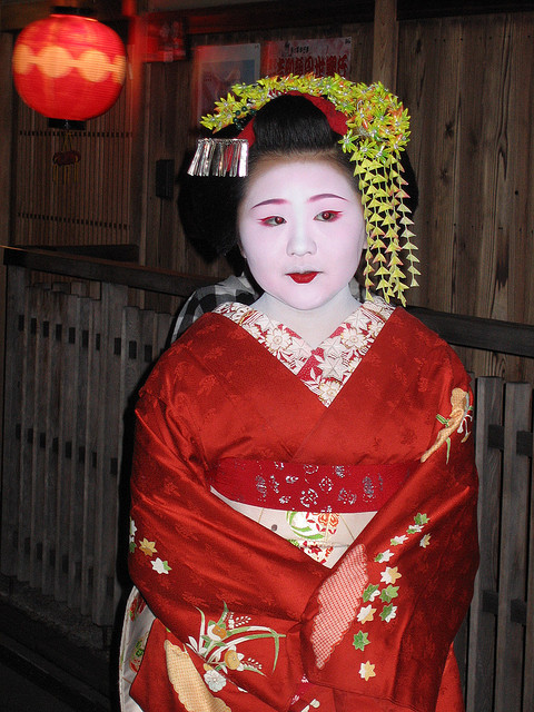 Wakana as a junior maiko