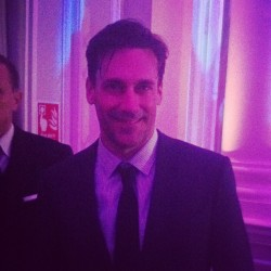 Mr John Hamm looking as dapper as ever at our party with @EsquireUK & @JimmyChooLTD #londoncollections  (Taken with Instagram)