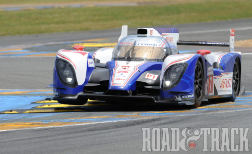 This year, Toyota returns to the 24 Hours of Le Mans with the TS030 Hybrid in the LMP1 class that will go head-to-head with the Audi R18 e-tron quattros. (Source: Road & Track)