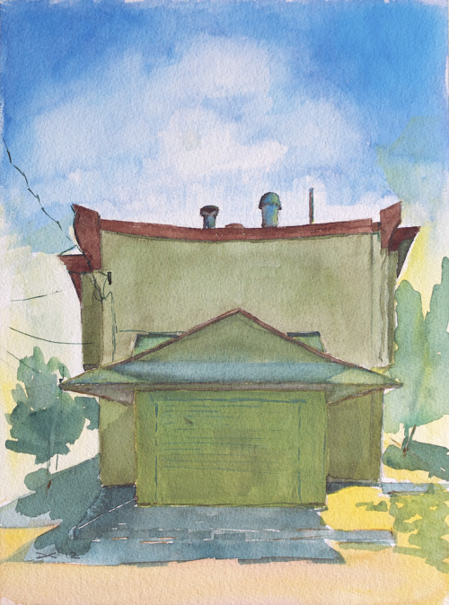 The architect's building on Passyunk Avenue, Philadelphia, watercolor, 300 lb. cold pressed paper, 23 x 31 cm, 2012 Sold