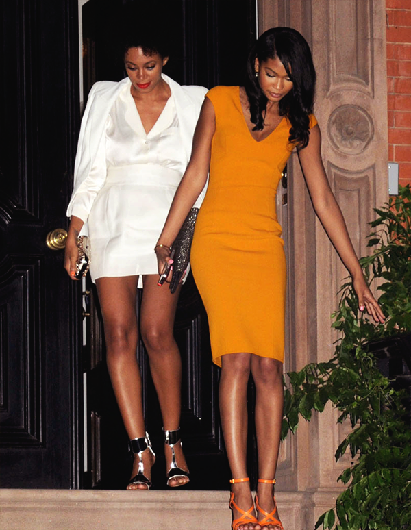 effyeahsol-angel:  Solange and model Chanel Iman dine with President Barack Obama and First Lady Michelle Obama