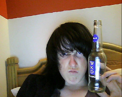 britishfries:  I don't like wkd but it's all I'm aloud in my house :(  I still hate it But I like my fayce in this so reglob!!  Not tryin to look hardqwa or anytin lyke bruv