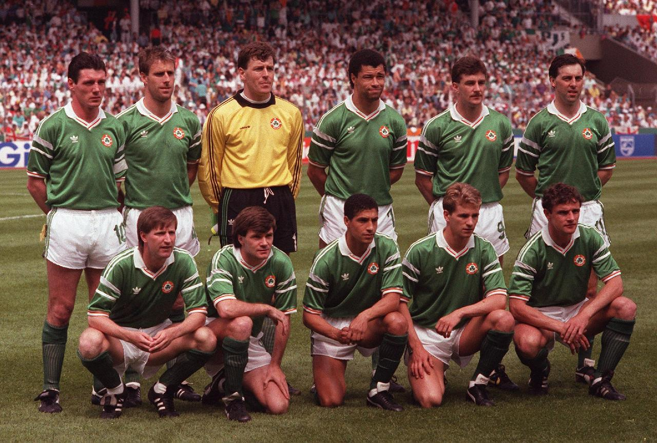 Republic of Ireland starting XI, June 12, 1988. Euro '88 Group B, England v Republic of Ireland (0-1). Neckarstadion, Stuttgart. Source: TheScore