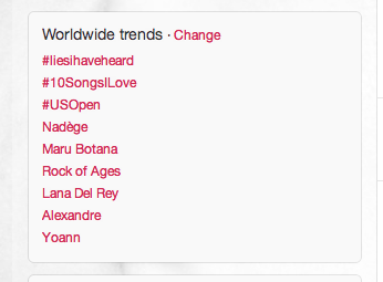 Worldwide trending topic!