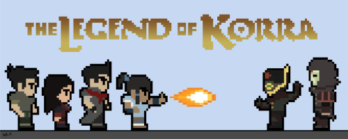 bill-rinaldi:  I present to you my newest creation. 8-Bit Legend of Korra!  If there is ever a Legend of Korra video game, let it be made in good ol' 8-bit style, with Avatar: The Last Airbender-type humor, and Legend of Korra kick-assery. MAKE IT SO.