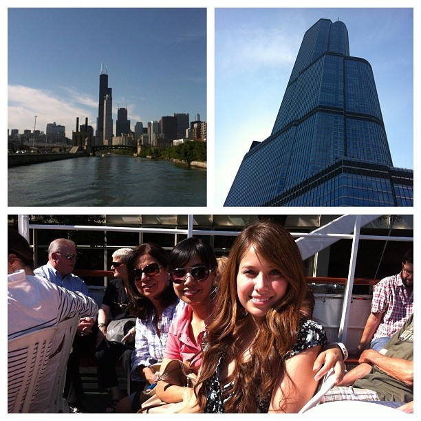 Architectural boat tour with my mom and sis! Chicago has such a gorgeous skyline.  (Taken with Instagram)