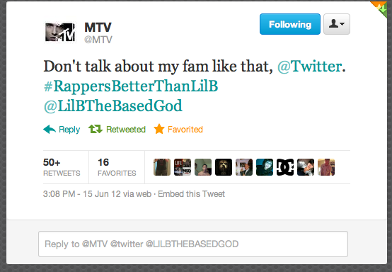 MTV PROTECTING LIL B AND BASED - Lil B