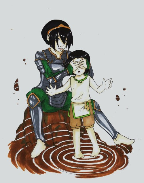 duckypooop:  Toph and lin~ you must learn the right way to earthbend (x)