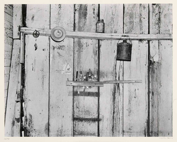 Walker Evans, Kitchen Wall, Alabama Farmstead (1936) (Writers Ruth Reichl, Francine Prose, and Elizabeth Graver, and poets Ellen Doré Watson, and Patty Crane on Evans' photograp) via GASTRONOMICA