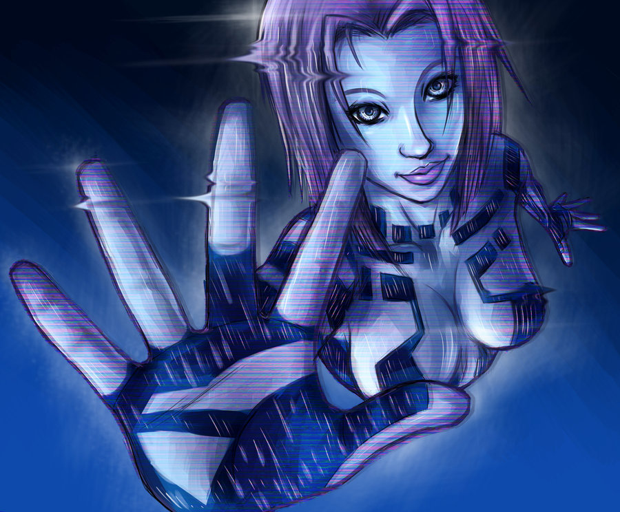 fuckyeahcortana:  Cortana by ~blue-brandon  Cortana nothing in halo is more beautiful,