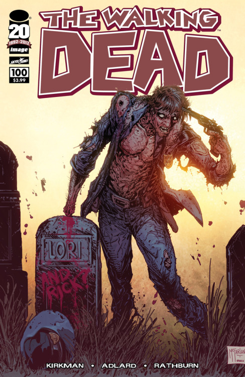 We love this WALKING DEAD #100 cover from TODD MCFARLANE!