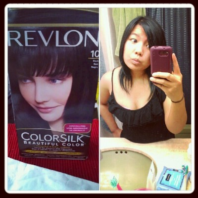 And I go back to black #hairdid  (Taken with Instagram)