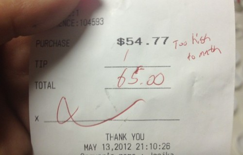lucialilianatudor:  Outstanding Achievements in Drug Use: Leaving a Tip Too high to math.