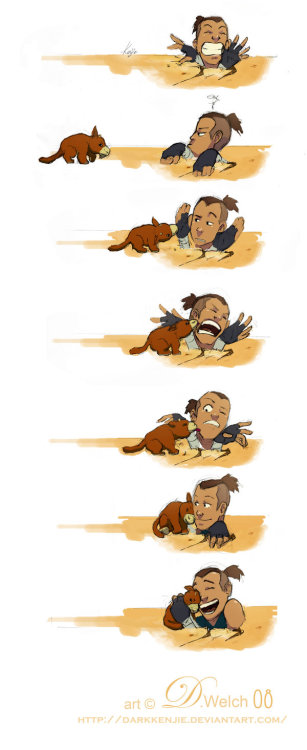 wbnia:  Sokka and Foofocuddlypoops by *DarkKenjie