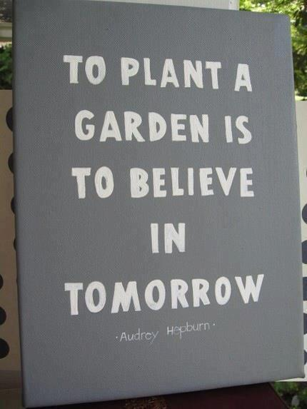 "vintageanchor:  ""To plant a garden is to believe in tomorrow."" —Audrey Hepburn"