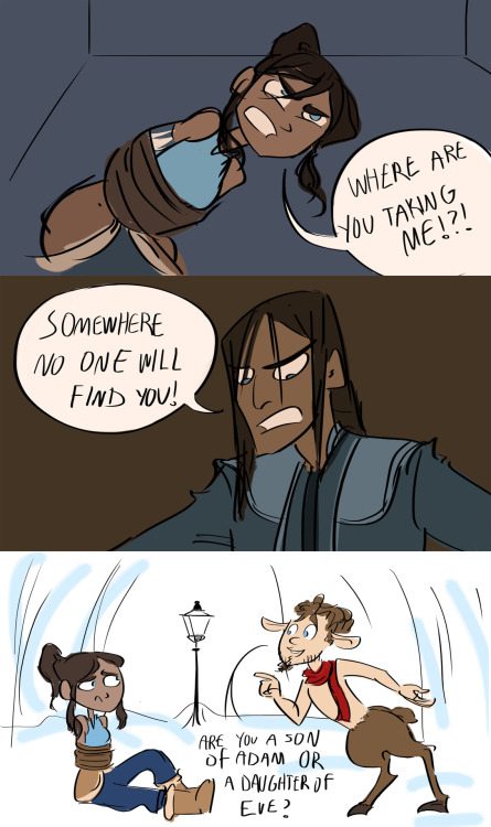 I was a little disappointed when Tarlock didn't end up taking Korra to Narnia.