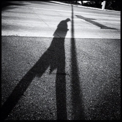 Long shadows #iphone #hipstamatic #shadow #bw (Taken with Instagram)