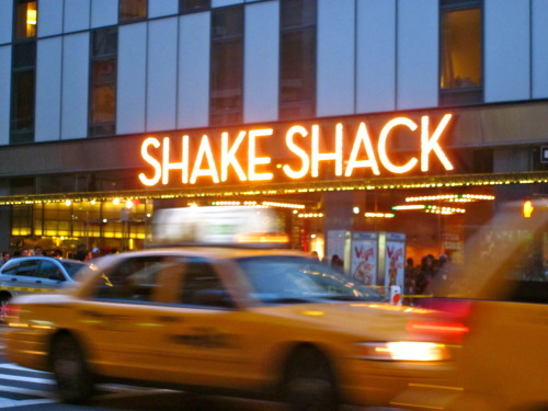 Shake Shack heaven, Theater District, NYC