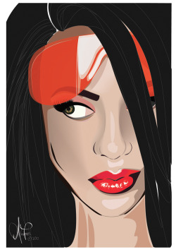 Aaliyah portrait Adobe Illustrator CS5