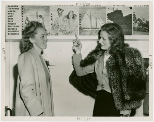 Betty Huneycutt (Miss North Carolina) and exhibit hostess.