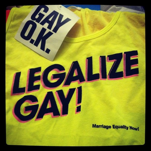 New 'Legalize Gay!' Tee! Obsessed. (Taken with Instagram)