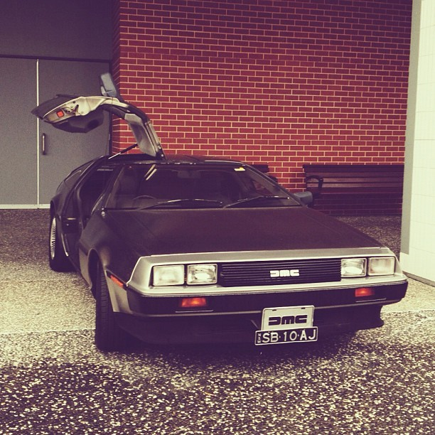 They have a DeLorean here!! #supanova #backtothefuture  (Taken with Instagram)