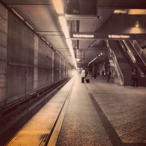 Headed to Hollywood on the Subway (Taken with Instagram)