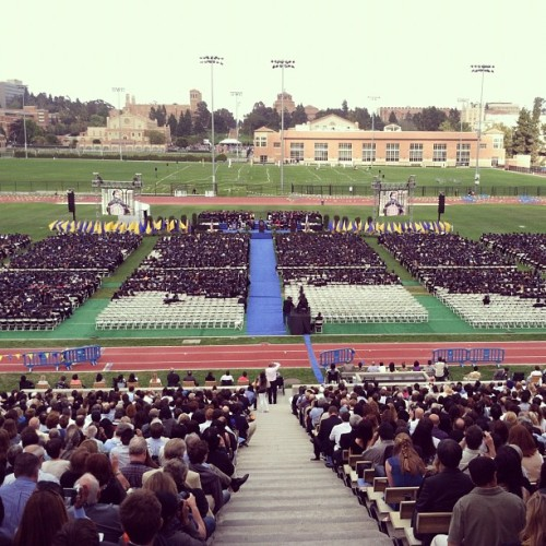 Congratulations UCLA College of Letters and Science Class of 2012! 💙💛🎓🎉 (Taken with Instagram at UCLA Drake Track & Field Stadium)
