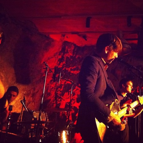 Franz Ferdinand at  Skyydsrummet, Stockholm, Today :'D via helenaisthlm on instagram