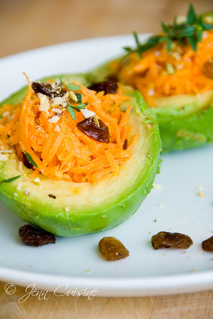 tryvegan:  Carrot and avocado salad
