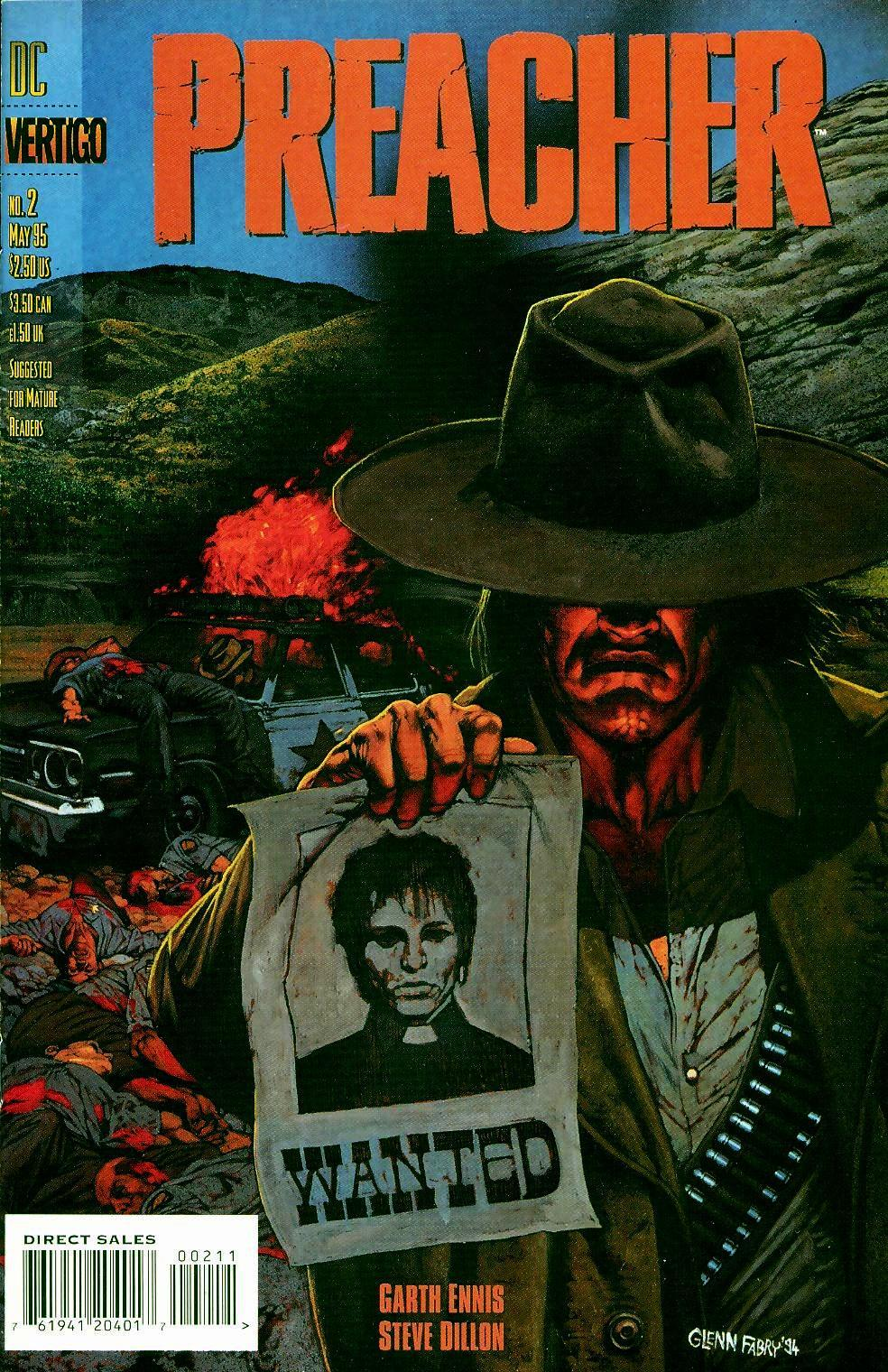 Preacher #2 cover by Glenn Fabry