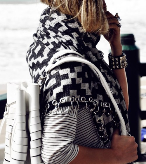 what-do-i-wear:  shirt: T By Alexander Wang, wrap: Sass & Bide, bag: Alexander Wang, cuff: market find, ring: Unearthen (image: oraclefox)