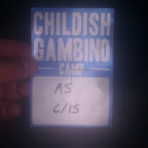 Backstage pass to meet Donald Glover aka childish gambino. Aka Troy  (Taken with Instagram at Old National Centre)