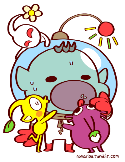 Captain Olimar and Pikmin, Pikmin series, Gamecube This is the closest I will EVER get to posting Mario here! Get it? 'Cause Olimar was named after Mario… BUY A PRINT OF THESE CHARACTERS!