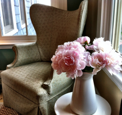 Peonies in the room. #CapeCod