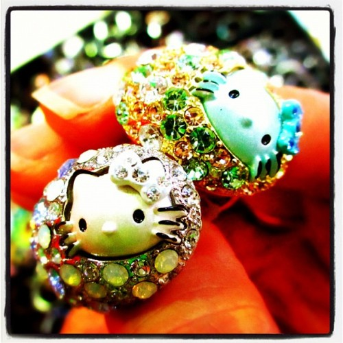Hello Kitty Bling Rings (Taken with Instagram at Seomyeon Market)
