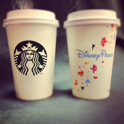 thebrucewayne:  melissaduckduck:  Ahhh! Starbucks in Disneyland :D  We're going to Disneyland!  Oh yes! I saw this today!