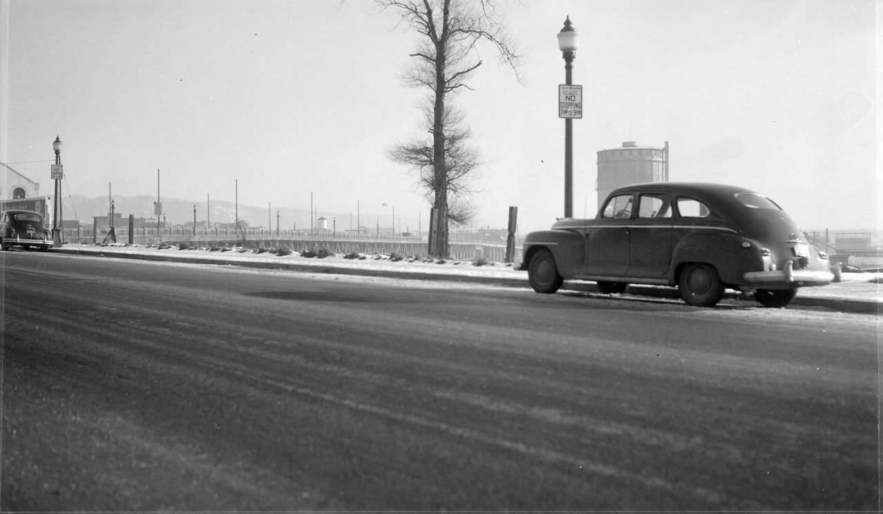 Beatty & Georgia Streets, Saturday 31 December 1949 Source: City of Vancouver Archives #447-390