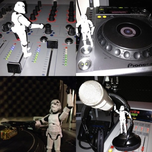 #tk421 down at @933CFMU getting his #house on (Taken with Instagram)