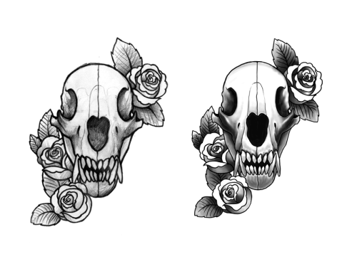 a tattoo design commission thingie.