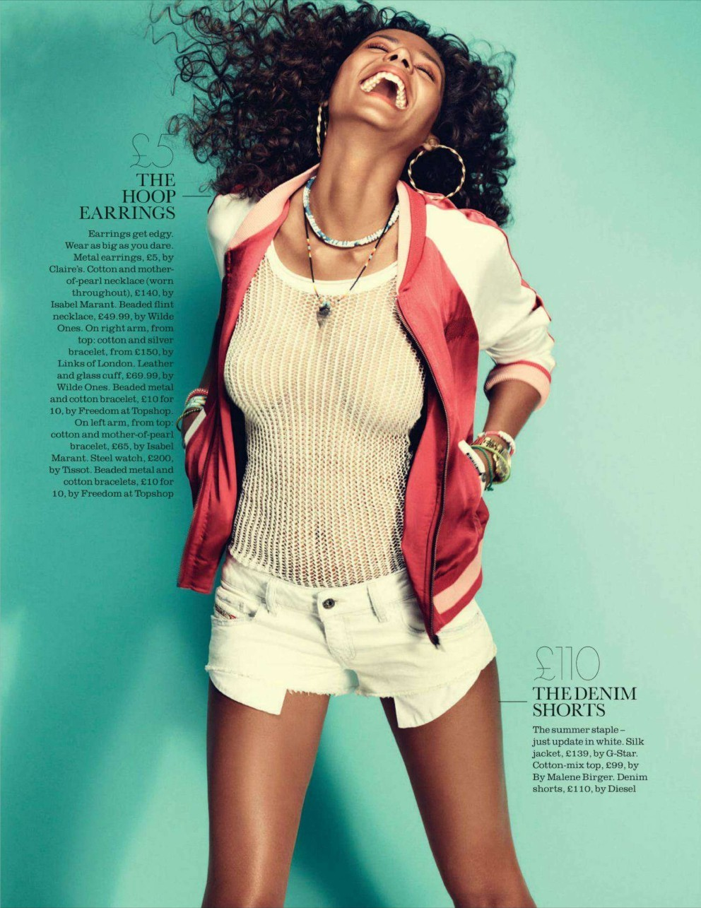 "Emanuela de Paula in ""Style For Less"" for Elle UK June 2012 , photographed by Lee Broomfield Image 2"