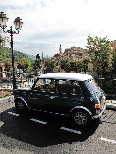 | ♕ |  Classic Mini - Gorbio, Cote-d'Azur  | by © sacoped  via ysvoice : manoelwilliam