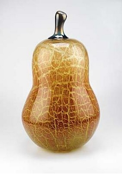 (via Glass Pear by Bobby Bowes / American Art)  Glass Pear - Bobby Bowes (2000) - blown glass, 20 x 13 in. (50.8 x 33.0 cm) Smithsonian American Art Museum