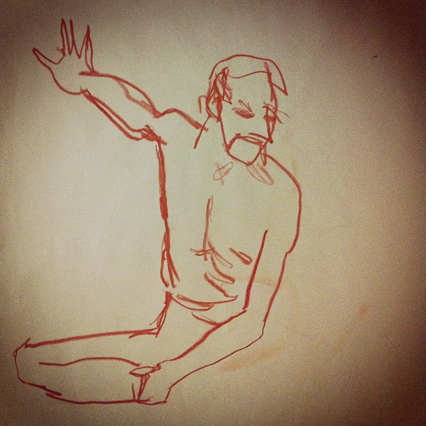 Life drawing : 2 mins by jellibat